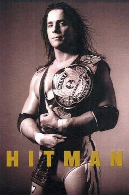 'Hitman: My Real Life in the Cartoon World of Wrestling' book cover art.